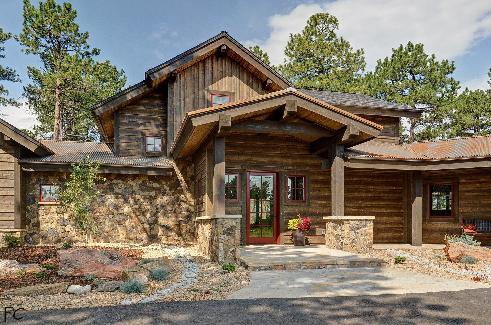 Beautiful Natural Stone And Wood In This Colorado Modern Mountain Cabin The Modest Mansion