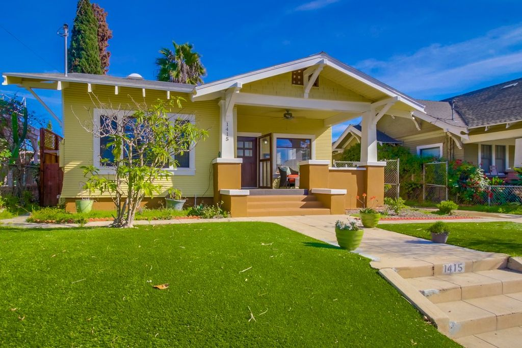 yellow California Bungalow