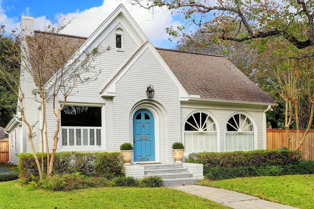 painted brick cottage